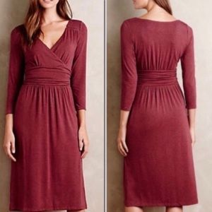 Anthropologie Maeve Galena Faux Wrap Dress